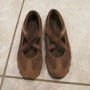 Skechers brown suede shoes